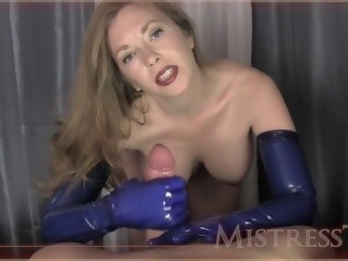 blue glove hj big dick amateur