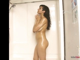 Indian Beauty Shanaya In Shower With Juicy Boobs big tits babe