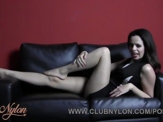 Brunette Argument Naylor teases nylon pantyhose ready for your cum on legs feet brunette amateur
