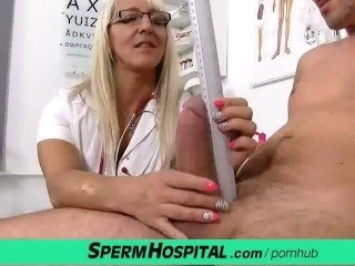 Doctor patient mating at hospital feat. milf Marketa handjob blonde