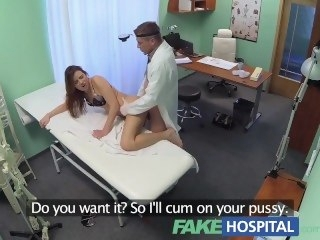 FakeHospital Beautiful brunettes wet pussy gets doctors cock hardcore amateur