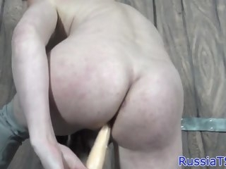 Russian shemale toying her ass with dildo trans russian tgirls