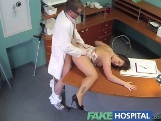 FakeHospital Doctors meat control things eases curvy patients back pain reality amateur