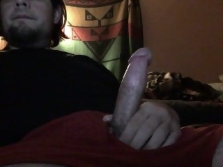 Strocking My Cock and Cumming big dick amateur