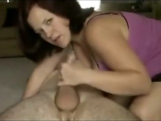 Step-Mommy Found Your Condoms mature blowjob
