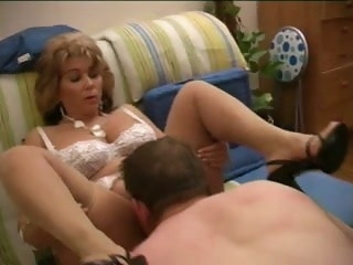lovely French Mum in stockings with the addition of heels stockings mature
