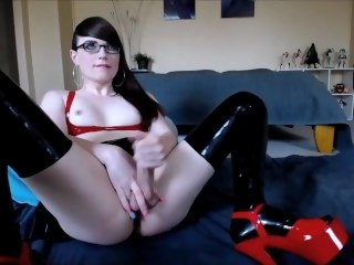 Most assuredly Attractive Transsexual Has an Orgasm masturbation brunette