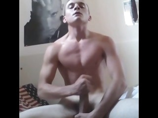 Fit Boy Swallows His Cum 4 Her Gf solo male muscle