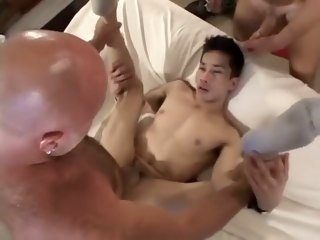 Two Daddiies Bang An Asian Twink asian gay