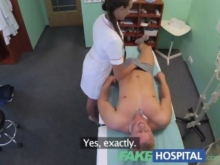 FakeHospital Sexy nurse gets a mouthful of cum round someone's skin doctors election pornstar amateur