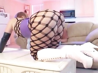 Hardcore anal sex and atm in fencenet pantyhose boots a corset and gloves hardcore fetish