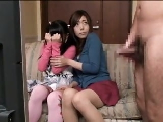 Mother and daughter take a crack at fun 2 japanese fingering
